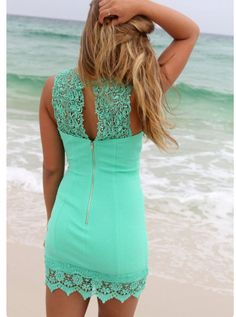 I like the back of this dress but is a little short for my taste.