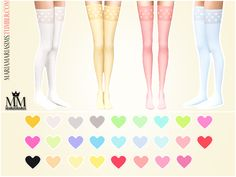 Sims 4 CC's - The Best: Heart Print Stockings by MariaMaria