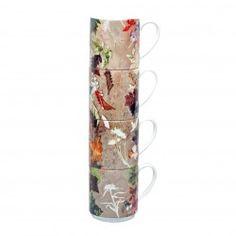 Floral Dance Stacking Mug Set