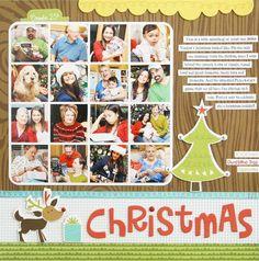 Christmas layout by Laura Vegas (bella blvd blog) (16 pictures!)
