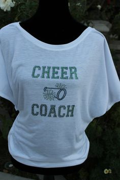 Cheer Coach Bling Shirt @Stephanie Myette what do you think?