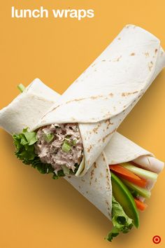 These delicious, in-a-jiffy veggie wraps can easily become a lunch favorite. Pick a wrap, spread some love, layer in the protein, add the veggies and that's it. It's a wrap. Two favorites to try right away: Tuna and Turkey Veggie. These sandwich alternatives taste amazing and take barely any prep work at all.