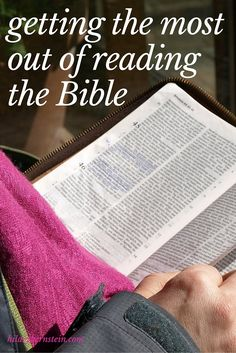 I love these tips for helping me apply what I read in the Bible ... & I need to try this 4-step process!