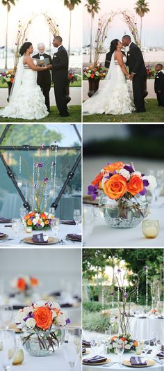 Gorgeous decoration detail from this Modern Purple Museum Wedding