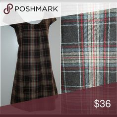 ANTHROPOLOGIE Piko 1988 Medium DRESS Wool PLAID So Chic!! Perfect for the Fall/Winter Months!! Anthropologie Dresses