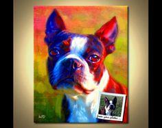 Personalizado perro collar o broche retrato de por FlowerLandShop