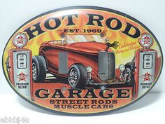 HOT ROD Garage Muscle Car Double Light Switch Plate Cover