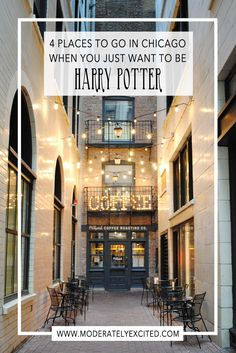 4 magical places in Chicago to visit when you just want to be Harry Potter. Be magically inspired to explore the city.