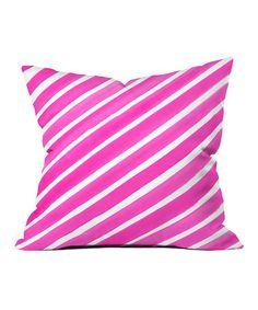 Look what I found on #zulily! Pink Pretty in Stripes Throw Pillow #zulilyfinds