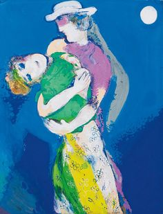 "Marc Chagall, ""moonlight Lovers, 1927""' (gouache and pastel)"