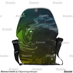 Abstract Swirls Courier Bag