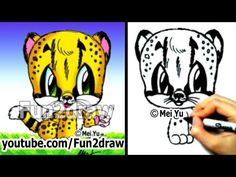 How to Draw Animals - How to Draw a Baby Cheetah