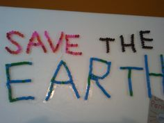 Poster On Save Earth Idea Message