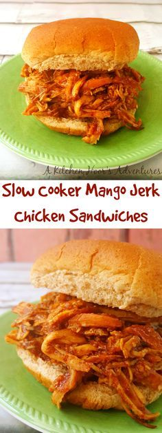 ... mango. Slow Cooker Mango Jerk Chicken Sandwiches taste out of this