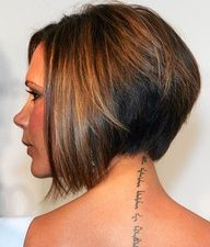 Victoria Beckham - Cute short hairstyle