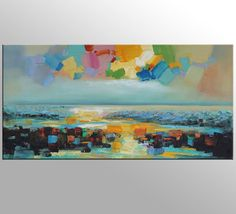 Abstract Oil Painting Original Artwork Abstract by GeorgeMillerArt