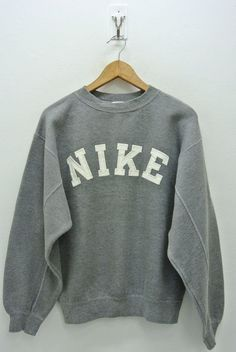2f659cddc4 Nike Sweatshirt Mens Small Vintage Nike Pullover 90s Nike Crewneck Nike  Gray Tag Sweater Nike Spell Out Men s Size S