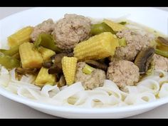 ▶ Pork Meatballs & Vegetable Noodle Soup - YouTube