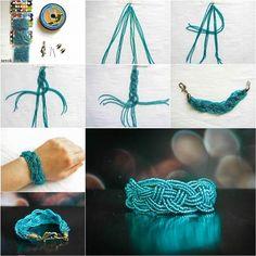 How to DIY Beautiful Celtic Knots Weaving Bracelet | iCreativeIdeas.com Like Us on Facebook ==> https://www.facebook.com/icreativeideas