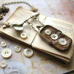 Garden Party - Vintage Purse Assemblage Necklace. $ 45.00, via Etsy.