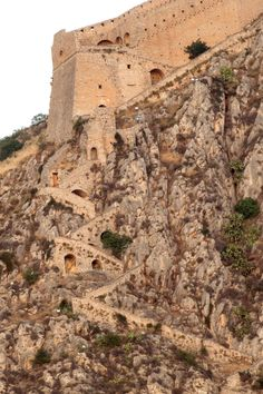 The stairway (supposedly 999 steps) up (via brum d)Nauplion, Peloponnisos, GR,