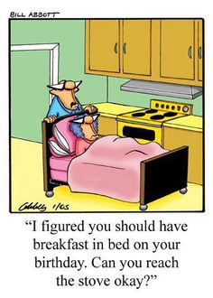 Breakfast in Bed..So So Funny ..and not far from the truth either ... Wa-hoooo !