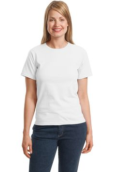 Hanes - Ladies ComfortSoft Crewneck T-Shirt.5680 White