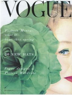 "Vogue, 1950s Photo by Erwin Blumenfeld. ""30 New Hats"""
