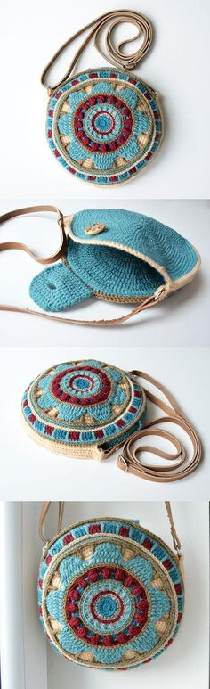 Wheel Of Magic Mandala Bag Crochet Pattern
