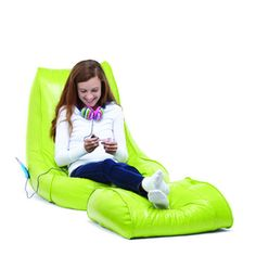 Vinyl Beanbag Lounger with Footrest - Sears