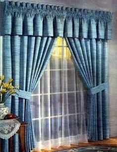 Resultado de imagen para modelos de cortinas de tela