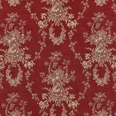 Waverly Country House Red toile fabric