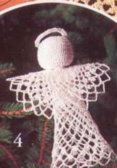 Make your own beautiful tree angel crocheted from Patons Grace.