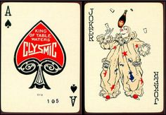 Vintage Playing Cards_Clysmic Table Waters_Ace Spades & Joker