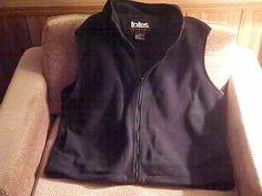 TOTES Womens XL Black Fleece Vest #TOTES