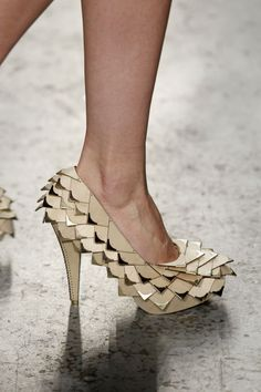 Found Object-Constructed Shoes : unconventional materials