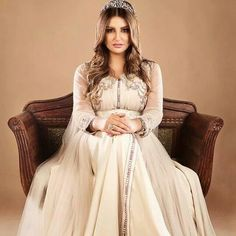Shada hassoun wearing Moroccan caftan