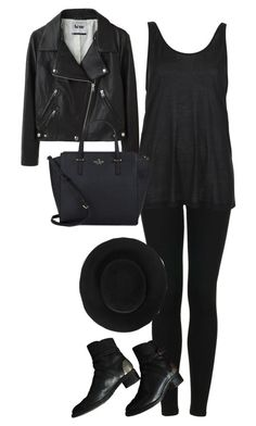 """""""Untitled #1698"""" by theaverageauburn ❤ liked on Polyvore featuring Acne Studios, Topshop, Reiss, Chanel, Boutique and Kate Spade"""