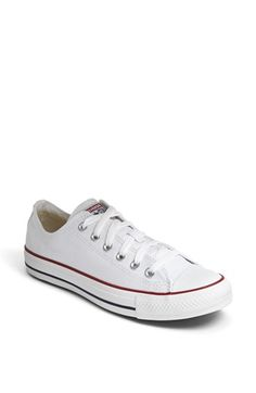 Converse Chuck Taylor® Low Sneaker (Women) available at #Nordstrom in size 7.5, color White