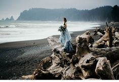 Moody Beach Bride by Cassie Rosch Photography