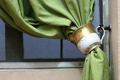 Teetassen als Gardinenhalter verwenden - wikiHow