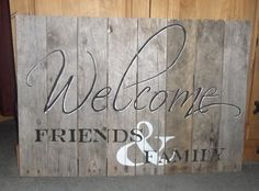 Welcome Sign Rustic Pallet Wood by tawnystreasures on Etsy