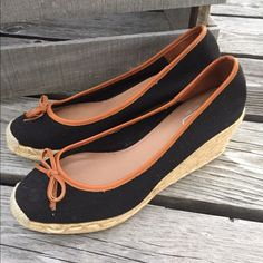 Coach Espadrilles w/Bow  NEW Gorgeous!! Never worn. Display item. Measures 10 inches from toe to heel and 3 inches wide at widest point in toe box. Coach Shoes Espadrilles