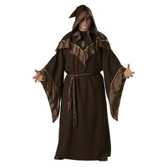 Halloween Costumes Adult Mens Gothic Wizard Costume European Religious Men Priest Uniform Fancy Dress Cosplay Costume for Men Wizard Costume, Costume Halloween, Wizard Robes, Halloween Men, Costume Shop, Halloween Party, Monk Costume, Halloween Carnival, Medieval Clothing