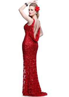 3b679bf1aae85 Primavera 9805 Sequin High Neck only  399 minigown.com Sequin Gown