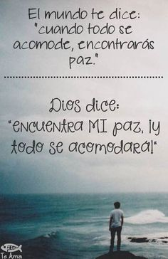 Encuentra la Paz EN Dios! facebook.com/jesusteamamgaministries I Love You God, God Is Good, Gods Love Quotes, Quotes About God, Christian Messages, Christian Quotes, Biblical Quotes, Bible Quotes, Cool Words