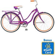 "Schwinn 26"" Ladies' Delmar Cruiser Bike & Bonus $20 eGift Card"