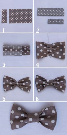 how to sew a fabric bow tie - Diy Sewing Projects Making Hair Bows, Diy Hair Bows, Sewing Baby Clothes, Diy Clothes, Diy Sewing Projects, Sewing Crafts, Sewing Tutorials, Diy Crafts, Creation Couture