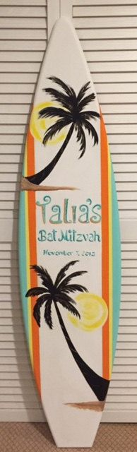 5FT custom surf surfboard name monogram personalized wood wall art decor sign now taking Christmas holiday orders by SurfboardBeachArt on Etsy