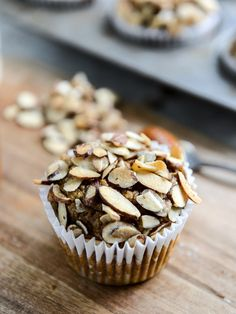 Whole Wheat Pumpkin Almond Muffins